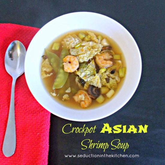 Crockpot Asian shrimp soup
