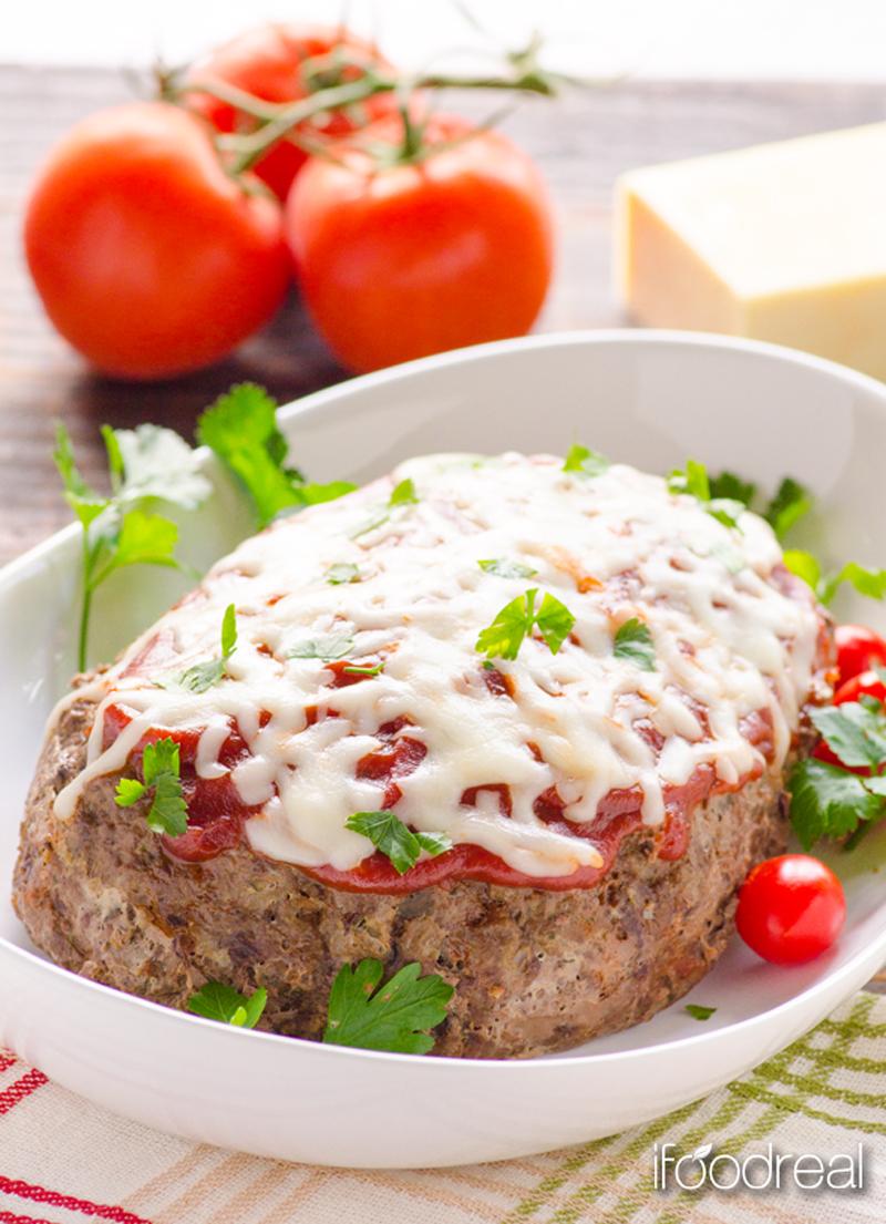 Crockpot Italian zucchini meatloaf