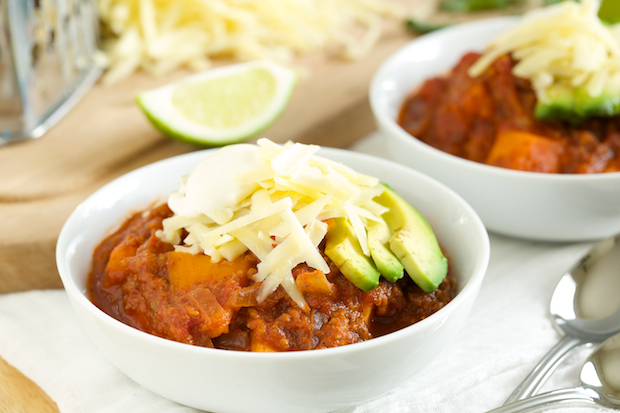 Crockpot sweet potato chili