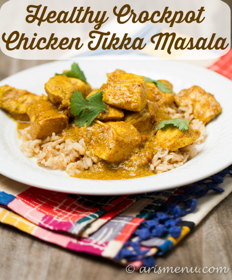Healthy crockpot chicken tikka masala