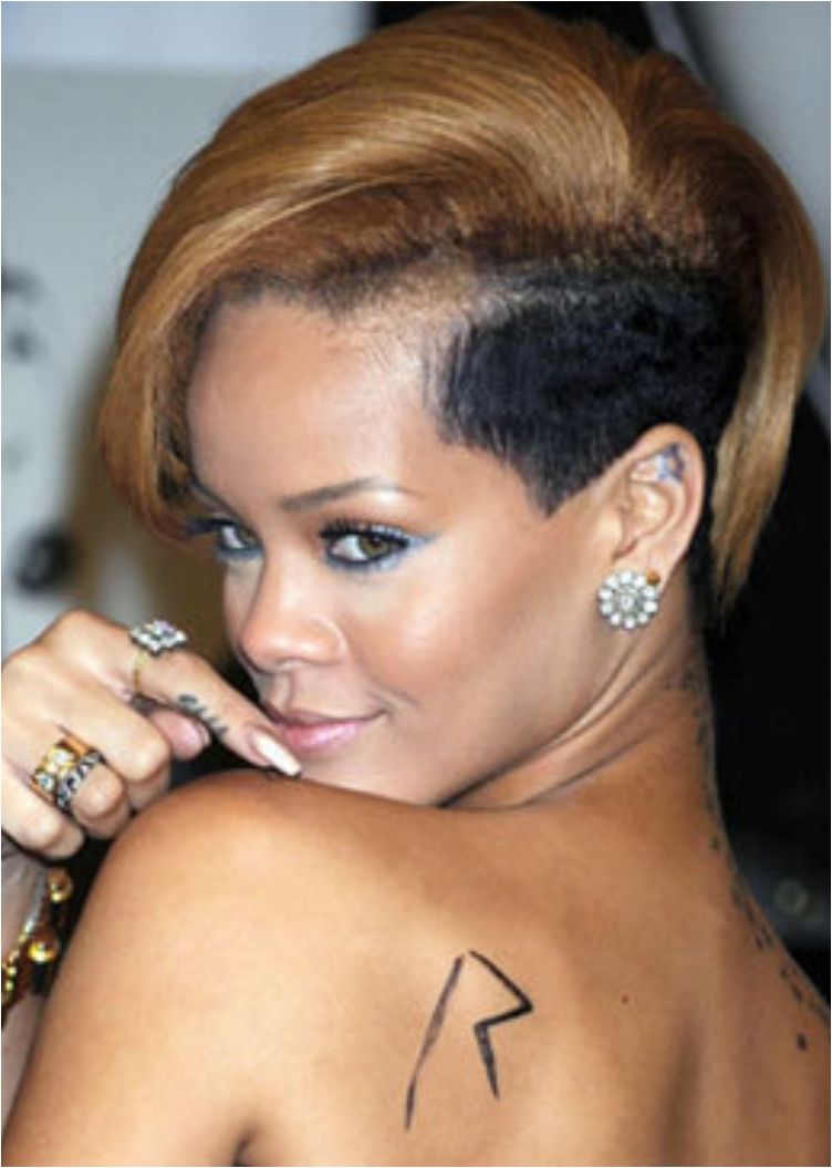 Discover The Secrets Behind 18 Of Rihanna's Tattoos Ritely - 752x1055 ... Chris Brown Rihanna Tattoo