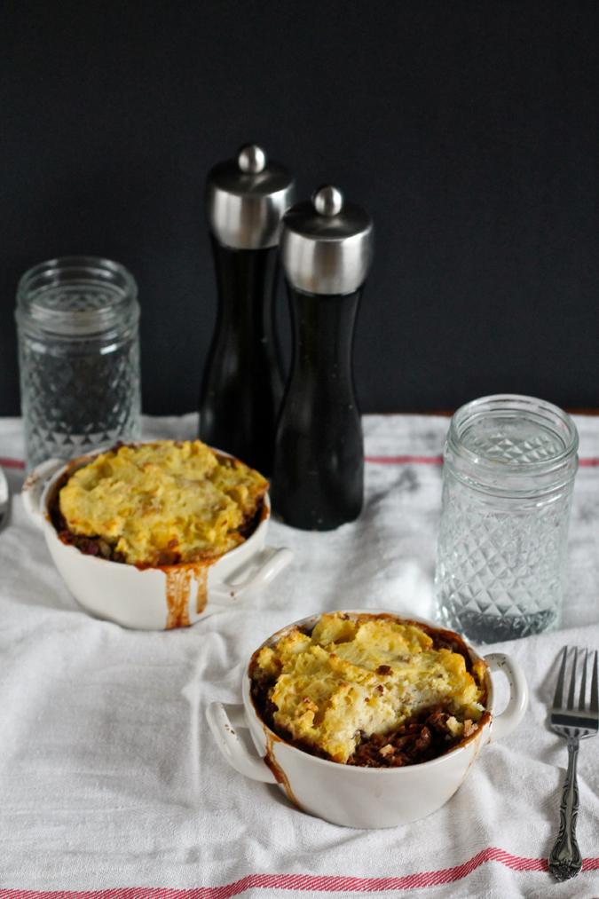 Slow cooker lentil shepherd's pie