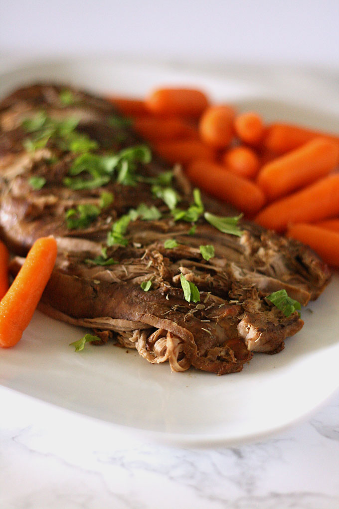 Slow cooker pork tenderloin with hidden veggies