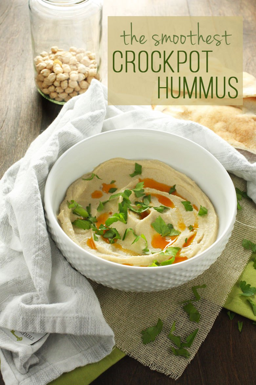 The smoothest crockpot hummus
