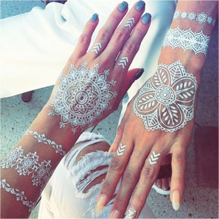 29 Best Wedding Body Paint Henna Images On Pinterest: 43 Eye-Catching White Henna Tattoos You Must Try