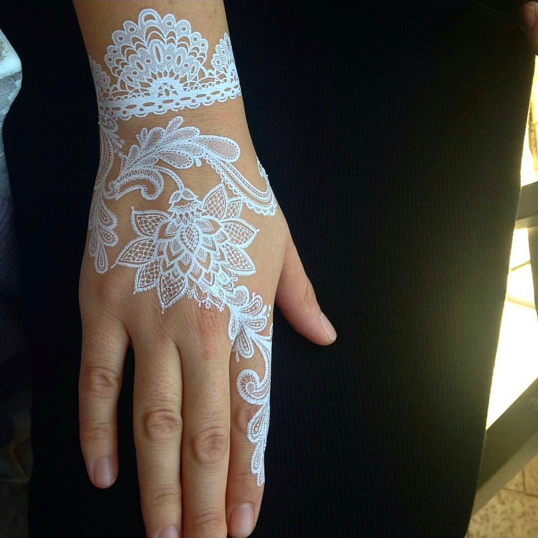 Mehndi Eye Tattoo : Eye catching white henna tattoos you must try ritely