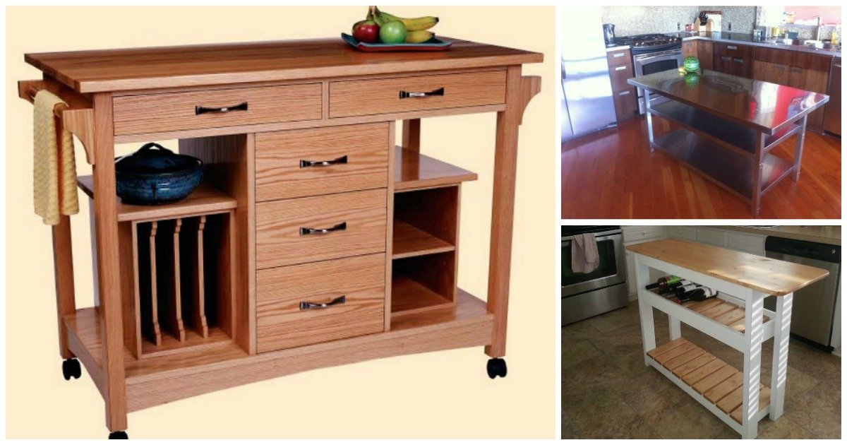 Kitchen Islands Add Beauty Function And Value To The: 20 DIY Islands To Complete Your Kitchen