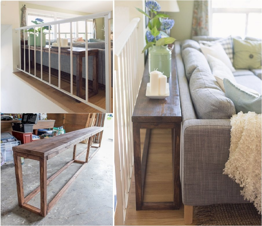 Utilize the Space Behind the Sofa with 15 DIY Sofa Tables